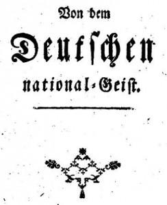 Moser Vom Deutschen National-Geist